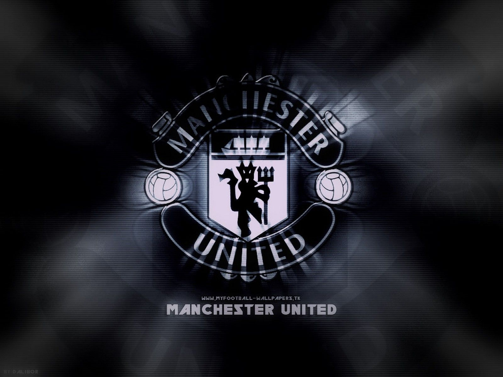 Manchester United Black Logo Wallpaper By Dalibor Manchester United Wallpaper Manchester United Logo Manchester United