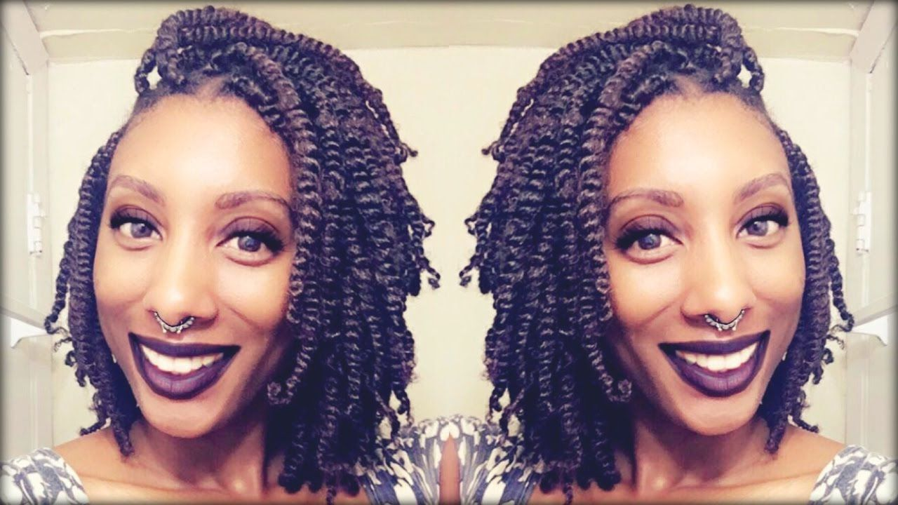 Natural Kinky Twists  Simple Technique  Natural Hair  Pinterest