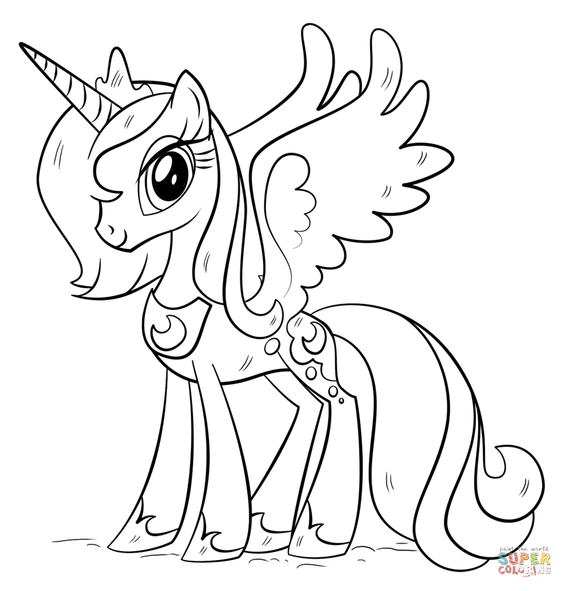 Click the Princess Luna coloring pages to view printable