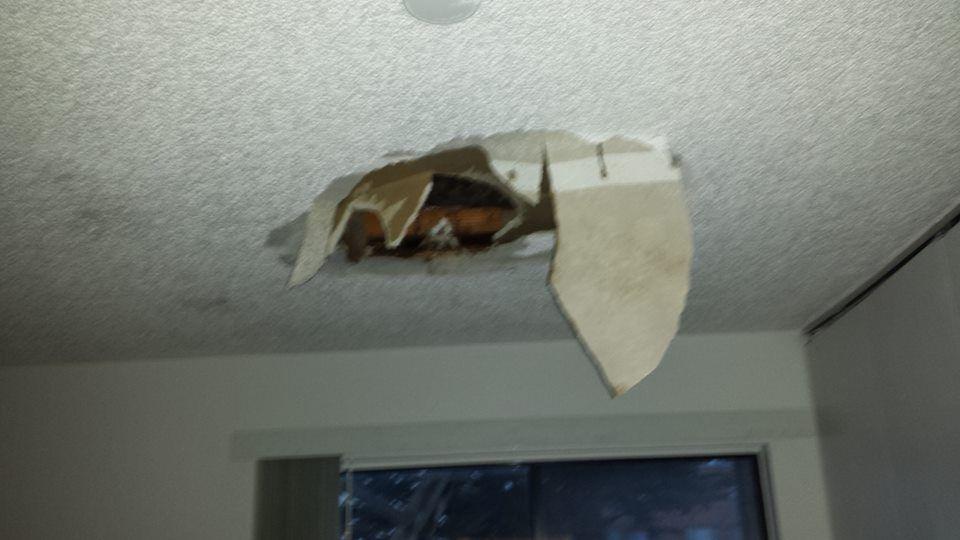 ceiling damage water leak water damage restoration