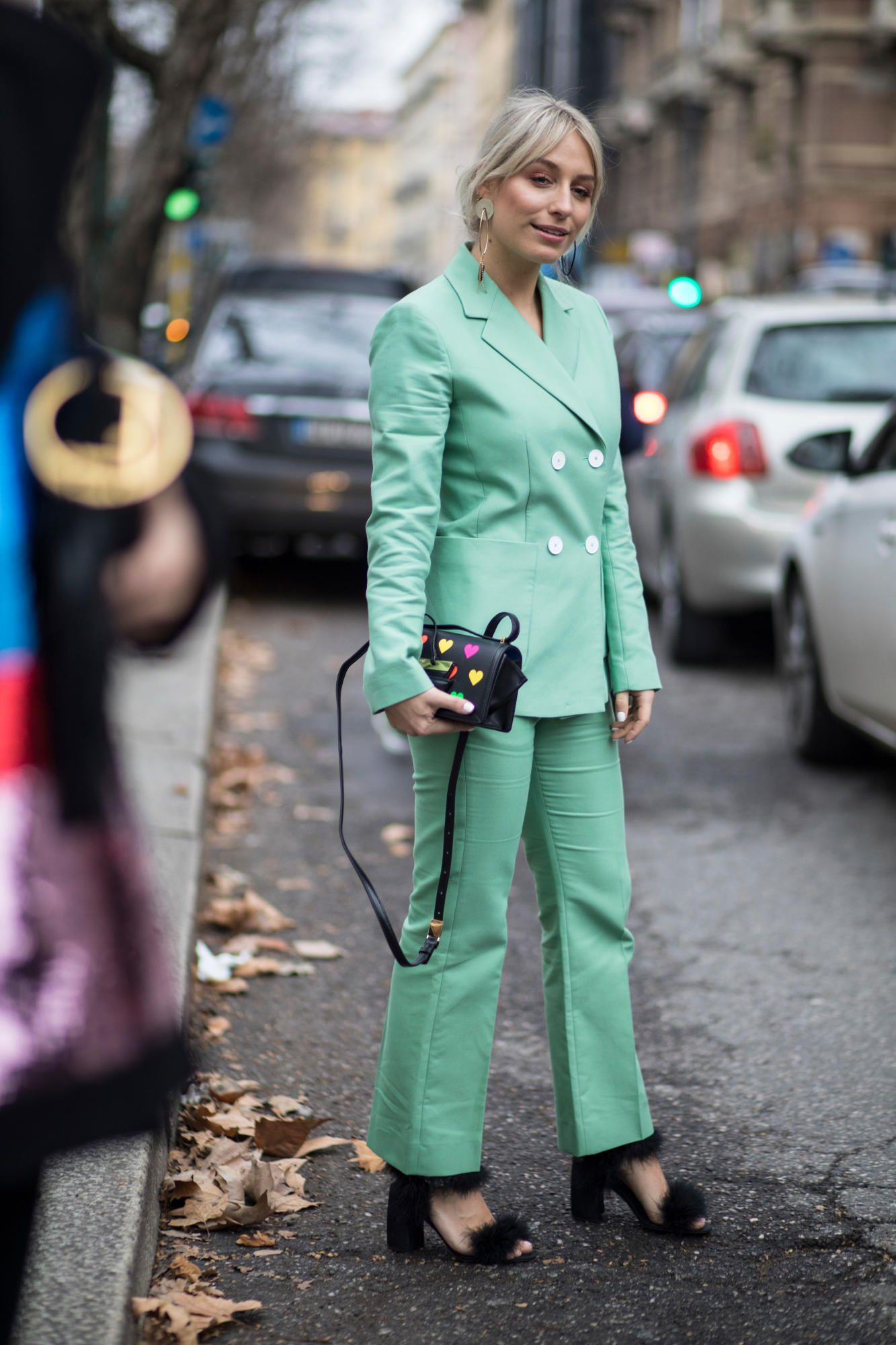Our favorite street style looks from outside the shows over the weekend.