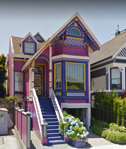 Whimsical Victorian Painted Lady House In San Francisco Ca