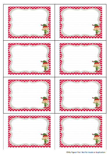 Christmas Note Card Templates New Business Template In 2020 Elf On Shelf Printables Elf Notes Elf Printables