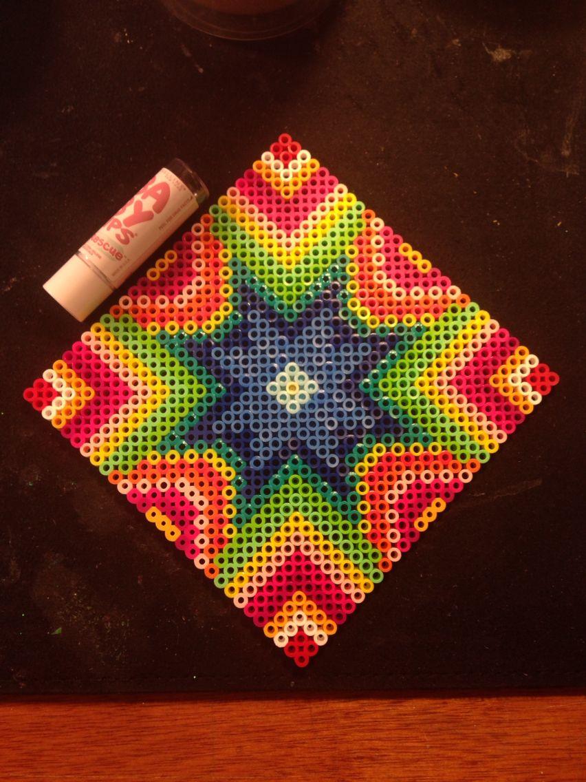 Starburst Square Perler Beads By Katie Binesh Crafts Hama Beads