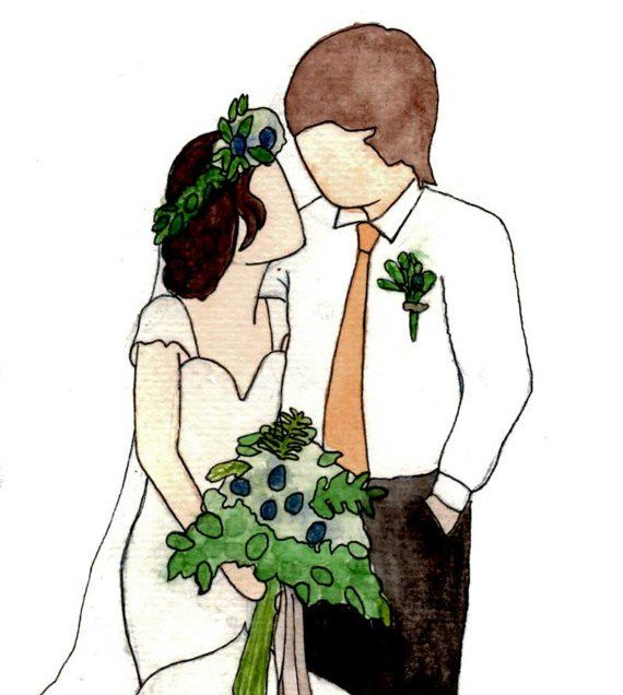 Not sure what to add to your wedding registry? Add a Personalized Watercolor Wedding Portrait to Your Registry. More ideas at www.klowephoto.com
