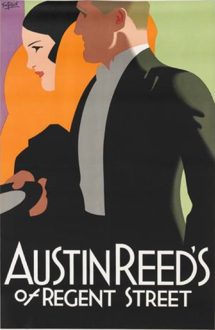 By Tom Purvis 1888 1959 Ca 1926 Austin Reed S Of Regent Street British Art Deco Posters Art Deco Illustration Poster