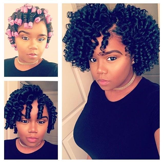 Roller set, natural hair, African American hairstyles | Roller set ...