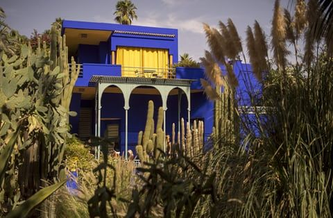 2b754c69f4a In the 70s, Saint Laurent and Berge bought a bigger house in Marrakech,  Villa Oasis, which was connected to the Jardin Majorelle.