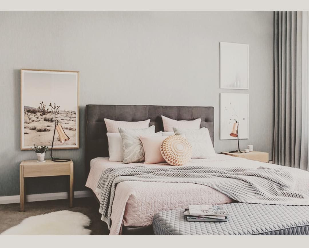 Master bedroom goals  Feel lucky that I managed to get theartworkstylist Pink Desert