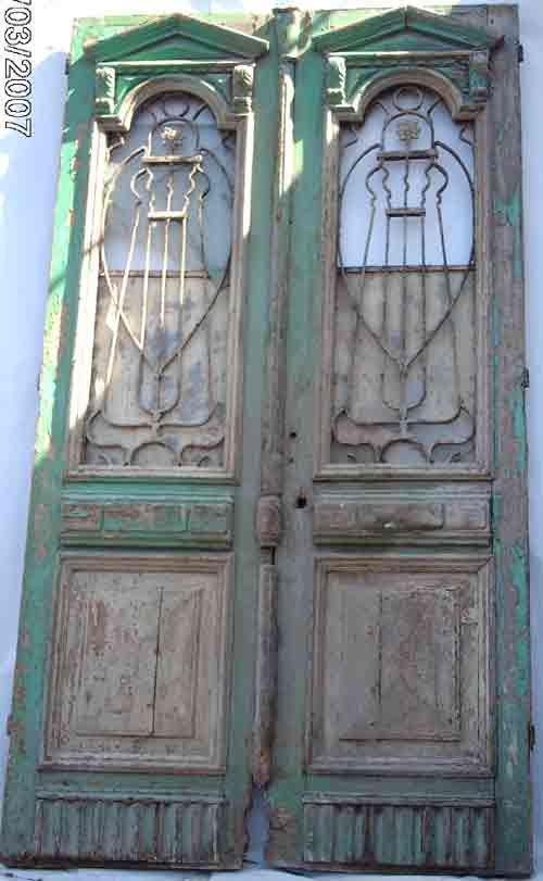 French Colonial Beech Pine / Iron Double Entry Doors 5 - French Colonial Beech Pine / Iron Double Entry Doors 5 Doors