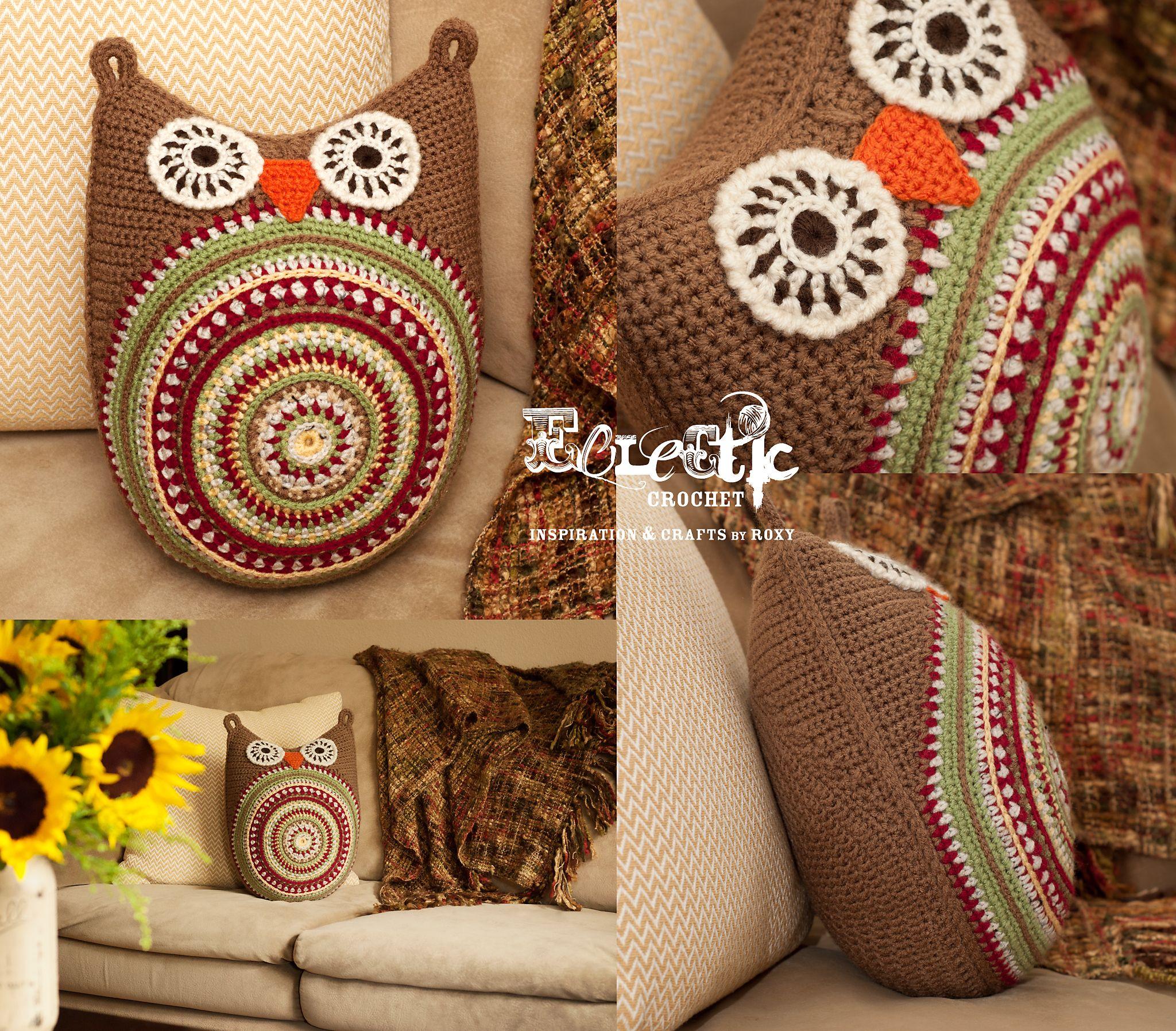 Crochet pattern owl cushion by ATERGcrochet   Pinterest