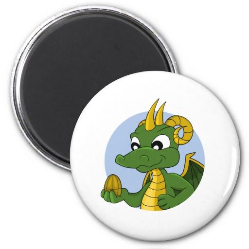 Cartoon dragon fridge magnet