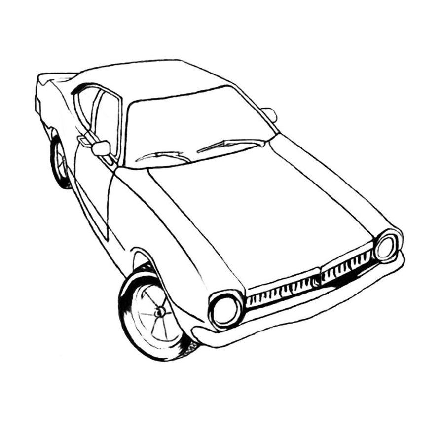 Free Printable Muscle Car Old Muscle Cars Car Colors Coloring
