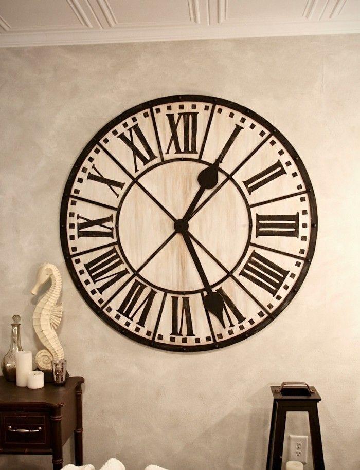 45 id es pour le plus cool horloge g ante murale cuisine for Grosse horloge design