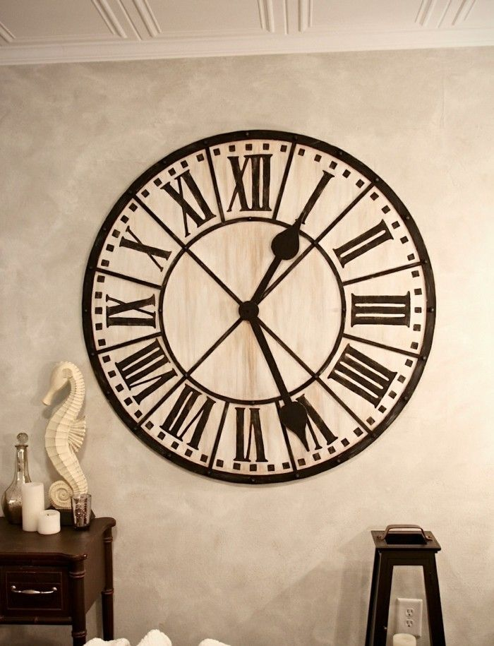 45 id es pour le plus cool horloge g ante murale cuisine for Horloge geante murale