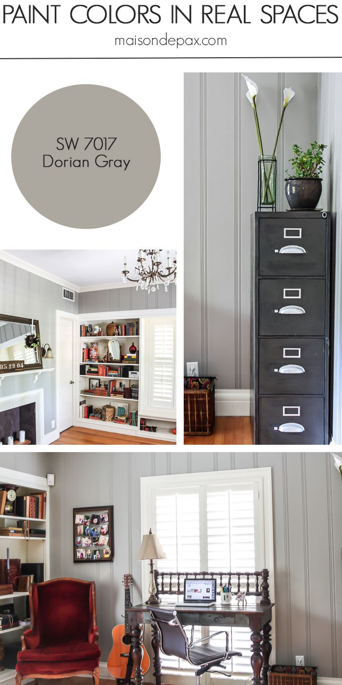 paint colors home. Dorian Gray (SW 7017) By Sherwin Williams: See Paint Colors In Real Spaces This Home Tour Full Of Lovely, Nature-inspired Neutrals | Maisondepax.com