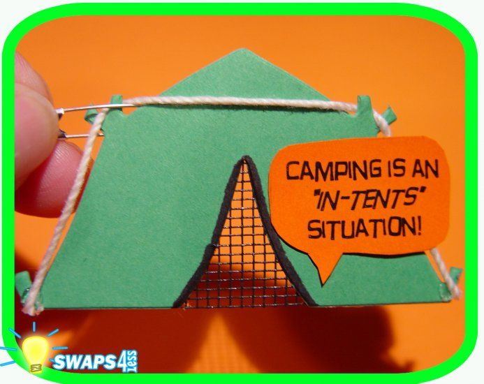 Girl Scout SWAP for an u0027in-tentsu0027 situation. & Camping tent SWAP...you can actually buy these on ebay. | Swaps ...