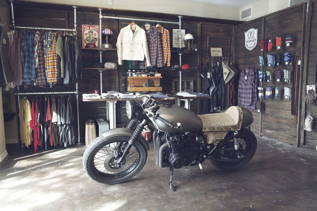 east fork supply co. shop with cafe racer motorcycle | motorcycle