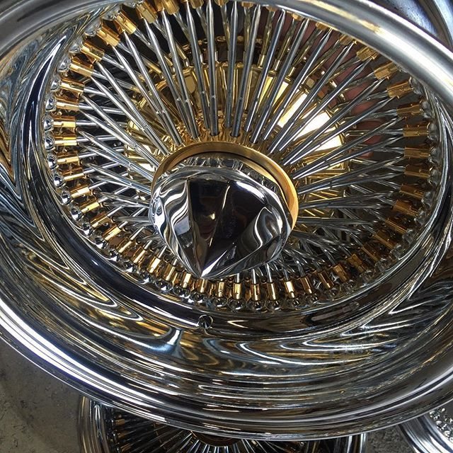 Pin On Gold Plated Wire Wheels