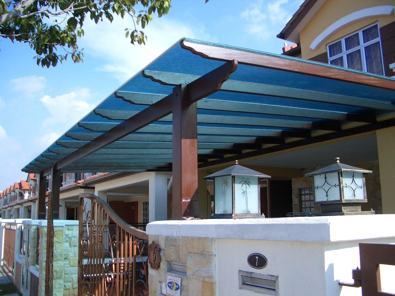 Berjaya polycarbonate awning pergolas pinterest for Roof awning design