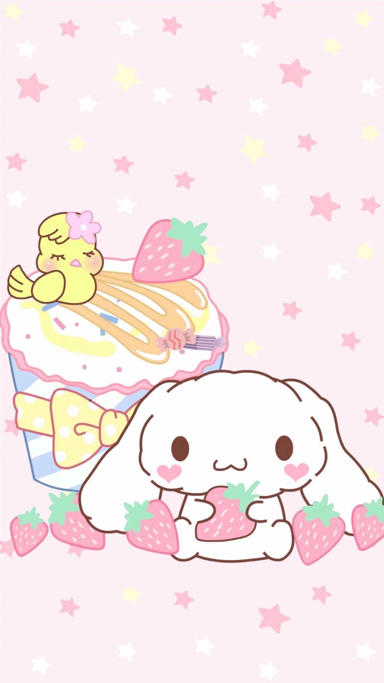 Cute Strawberry Kawaii Wallpaper Cute Wallpapers Hello Kitty Wallpaper