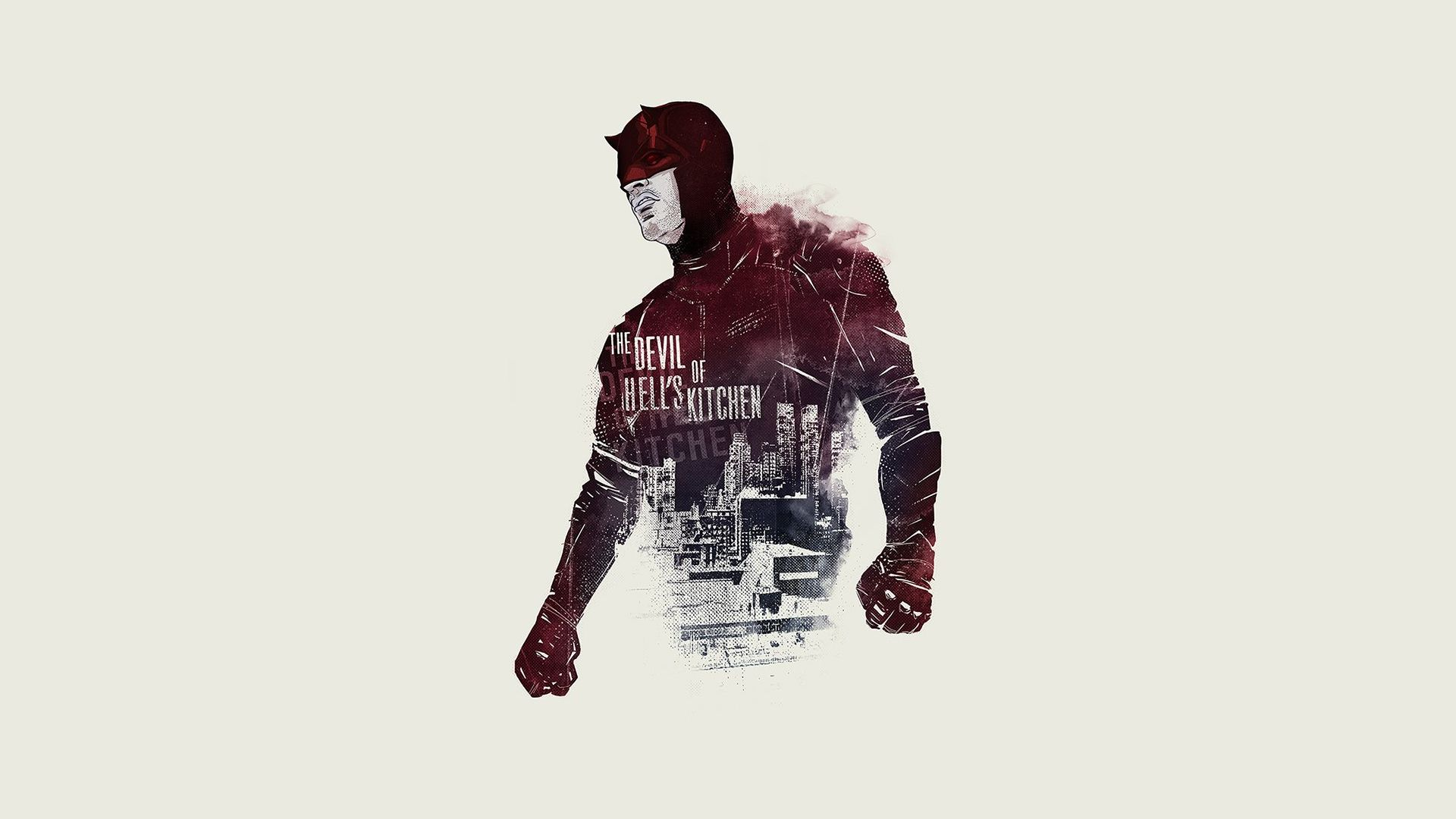 Daredevil poster turned wallpaper [1920x1080] Need iPhone