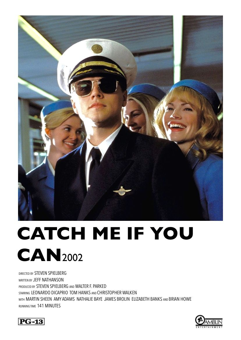 Catch Me If You Can 2002 Made By Me In 2020 Film Posters Minimalist Movie Posters Minimalist Alternative Movie Posters