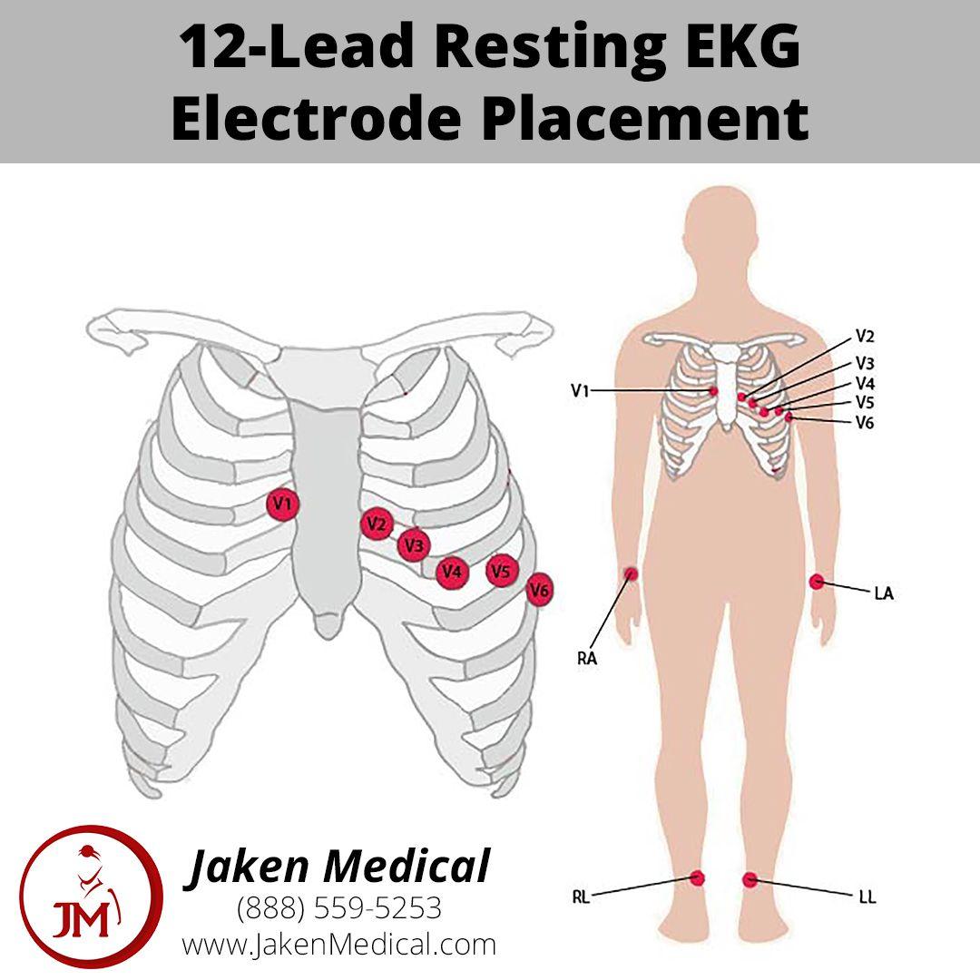 12 Lead Resting Ekg Electrode Placement Ekg Leads Ekg Placement Ekg