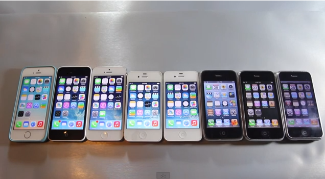 [Video] iPhone Speed Contest Comparing All Eight iPhone