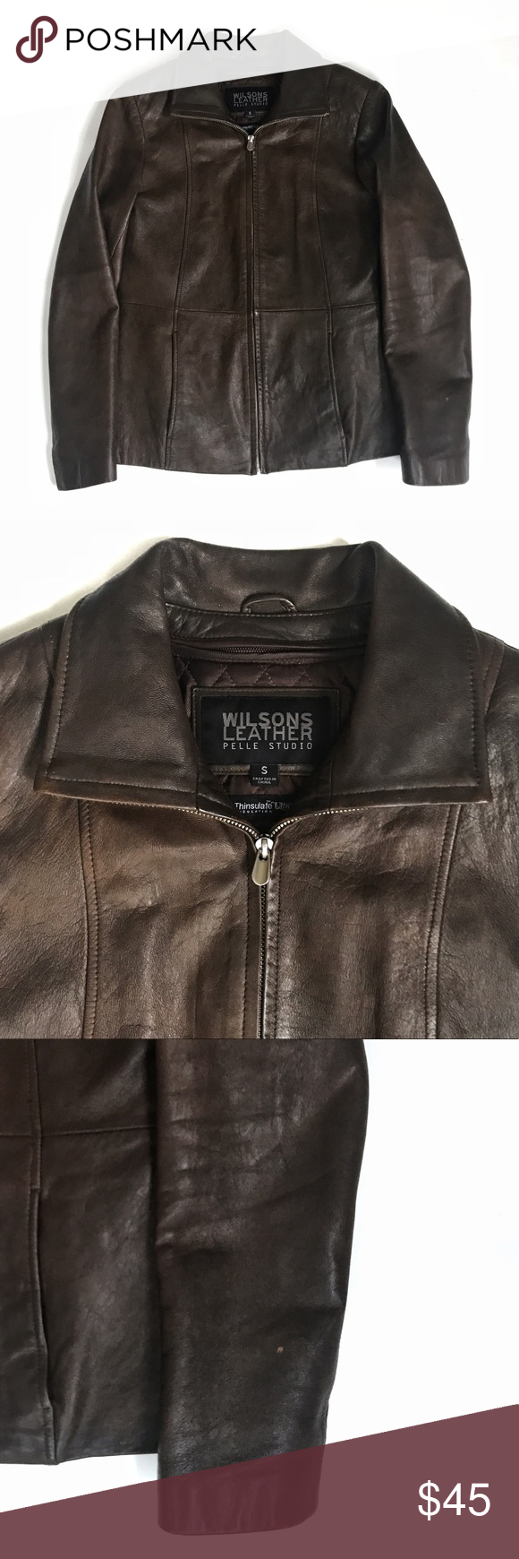 Wilsons Leather Pelle Studio Thinsulate Jacket Wilsons