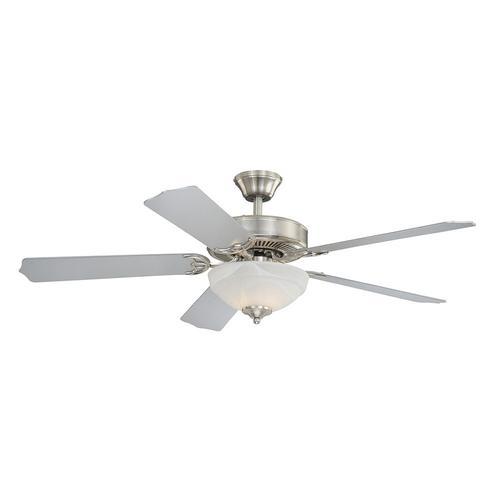 Turn Of The Century Apollo 52 Satin Nickel Indoor Ceiling Fan In 2020 Ceiling Fan 52 Ceiling Fan Lighting Ceiling Fans