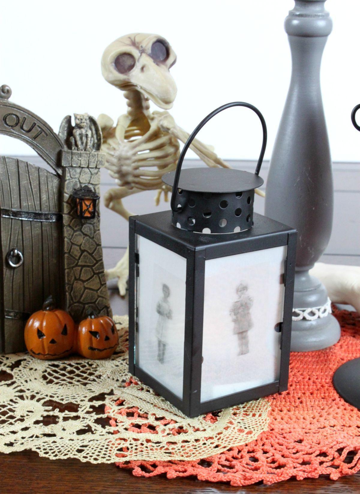 Gruselige HalloweenLaternen Haus Styling Halloween