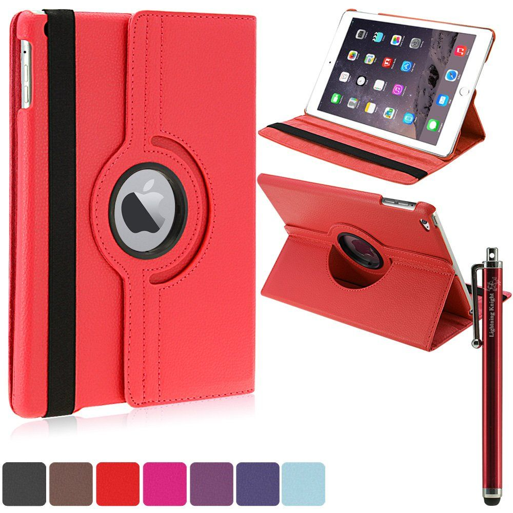Amazon Com Lk Ipad Air 2 Case Luxury 360 Rotating Magnetic Smart Pu Leather Case Cover For Ipad Air 2 With Wake Ipad Air 2 Cases Leather Case Ipad Air Case