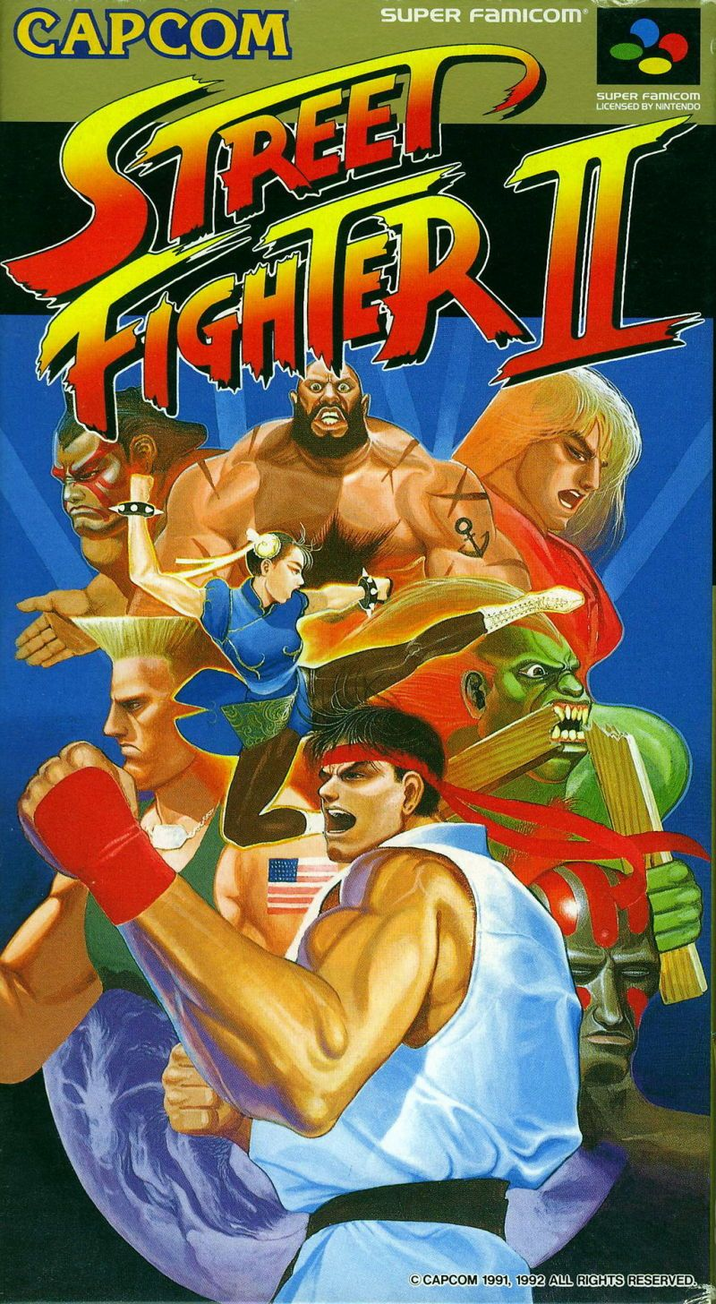 Street Fighter Ii The World Warrior Snes Front Cover Retro Games Poster Street Fighter Ii Street Fighter