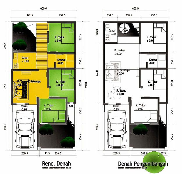 Gambar Desain Rumah Minimalis 6 X 9  hasil gambar untuk desain rumah 6 x 9 desain rumah denah