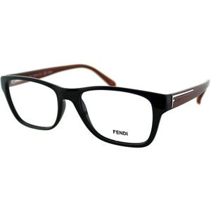 08bccd90a7e Fendi Women s FE 1036 002 Black Plastic Rectangle Eyeglasses (Fendi FE 1036  002 Black Rectangle
