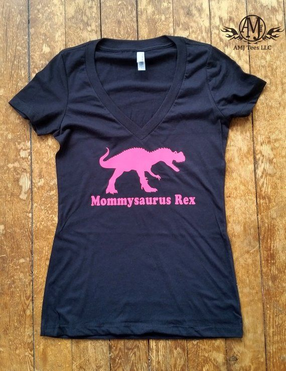 Women s V-neck T rex dinosaur shirt 175550b6c7