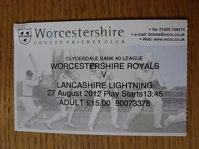 #27/08/2012 ticket: #cricket - #worcestershire v lancashire [cb40],  View more on the LINK: http://www.zeppy.io/product/gb/2/311616018015/