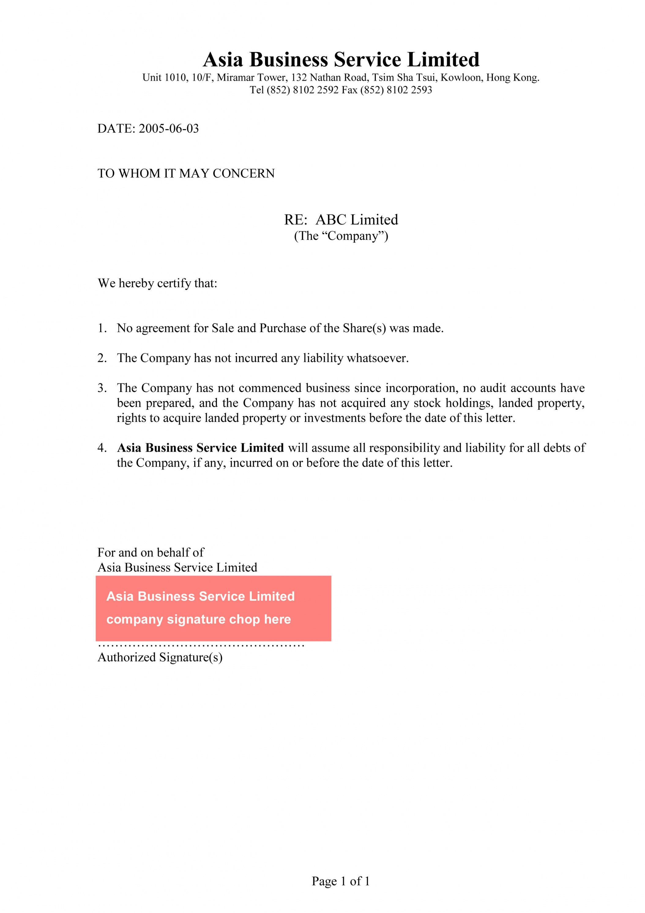 Browse Our Example of Product Guarantee Letter Template