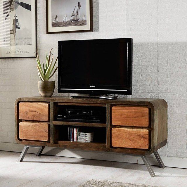 Fancy Reclaimed Tv Stand Corner Tv Unit Wood Tv Unit Tv