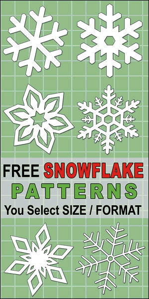 DIY Printable Snowflake Templates, Patterns, and Stencils. Use these Christmas clip art designs for xmas patterns, holiday ornaments, decorations, coloring pages, Silhouette and Cricut cutting machines, scroll saw patterns.