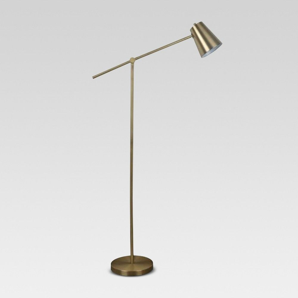 Cantilever Floor Lamp Brass Includes Energy Efficient Light Bulb Project 62 Size Lamp With