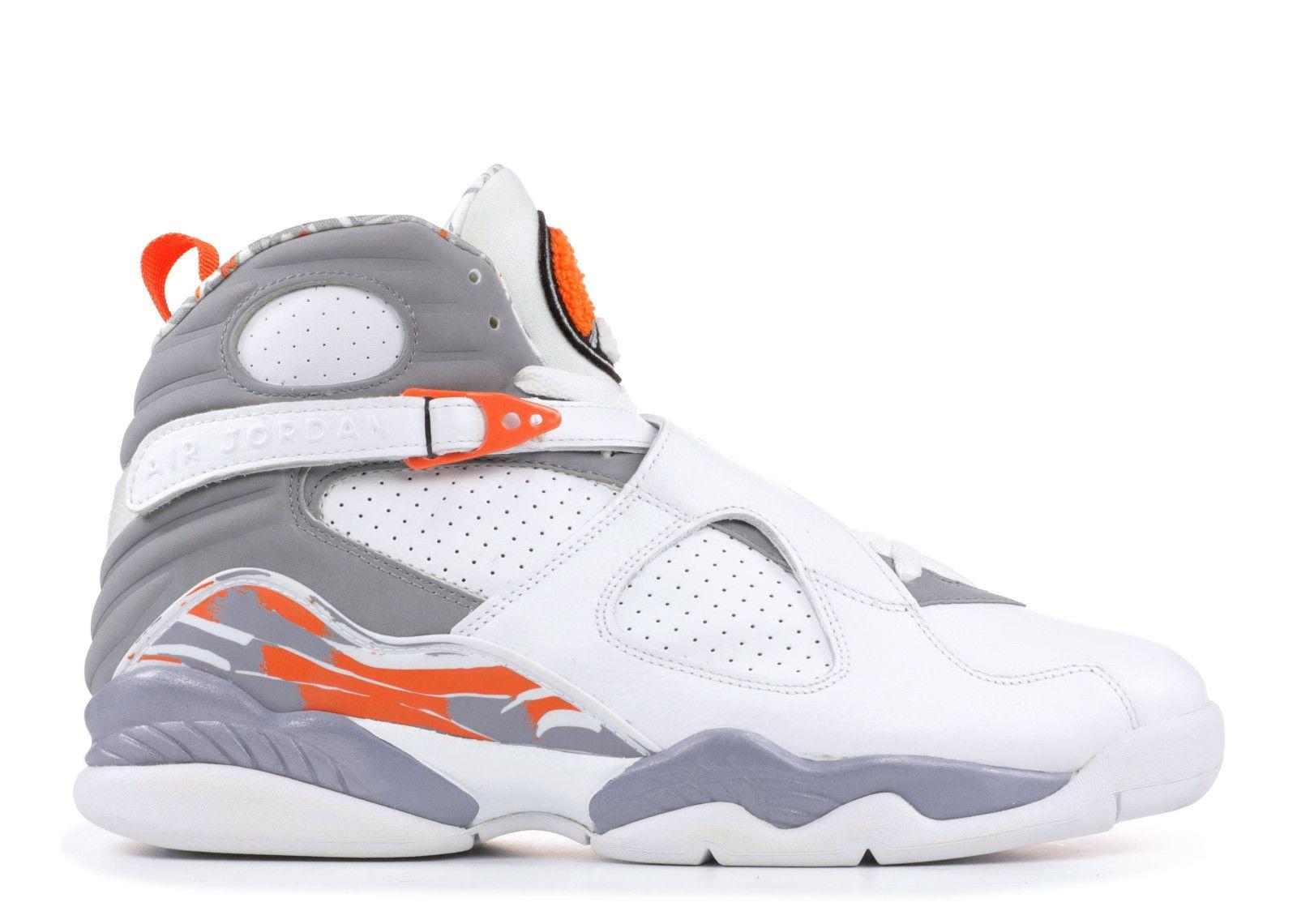 new product 0de12 ac0db Air Jordan 8 (VIII) Retro - White   Orange Blaze - Silver - Stealth    Sneaker Wish List   Nike air jordan 8, Nike air jordans, Air jordans