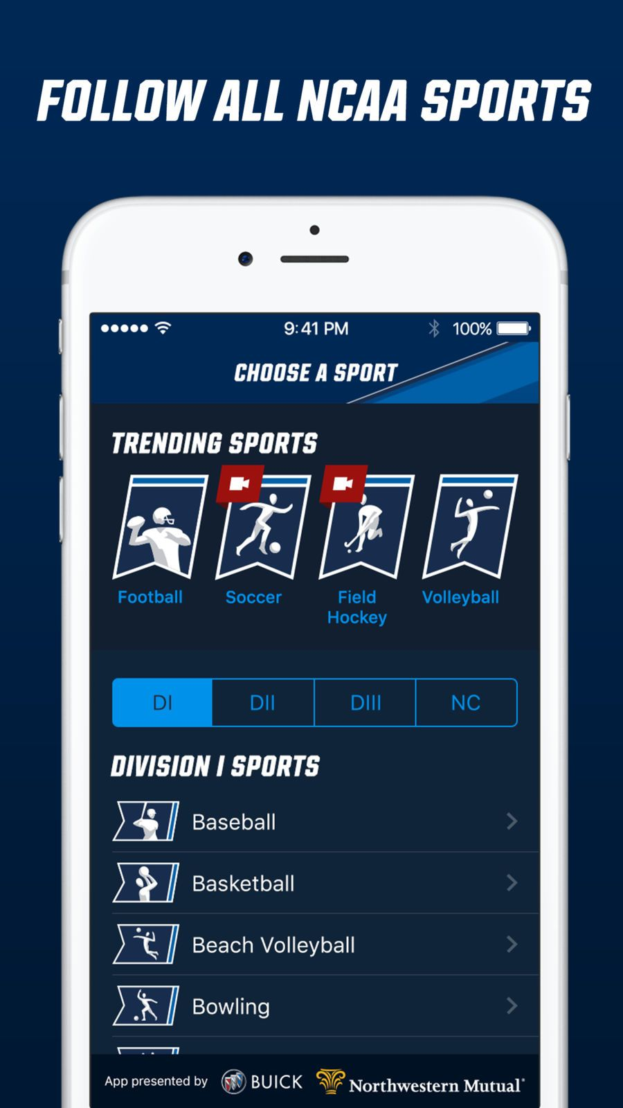 NCAA Sports iosappsappNews Sports, Sport football, App