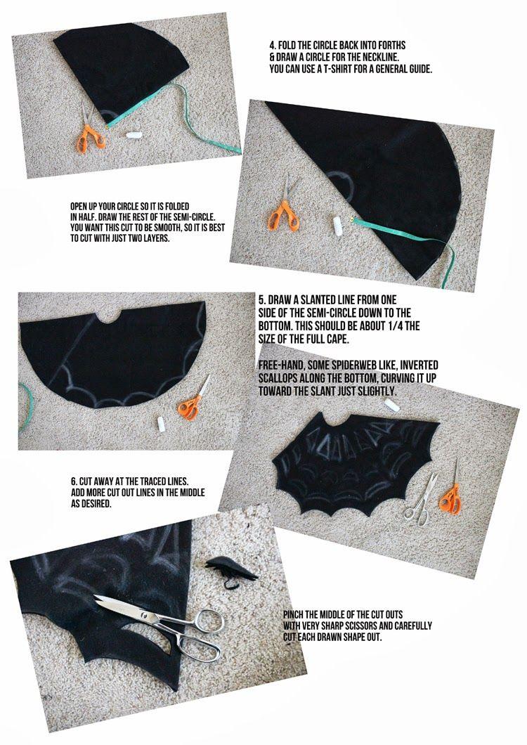 comment fabriquer une cape en toile d 39 araign e sans couture cape tutorial cape and tutorials. Black Bedroom Furniture Sets. Home Design Ideas