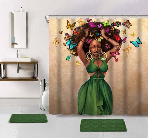 Tattoo Queen Shower Curtain Girls Shower Curtain Shower Dresses