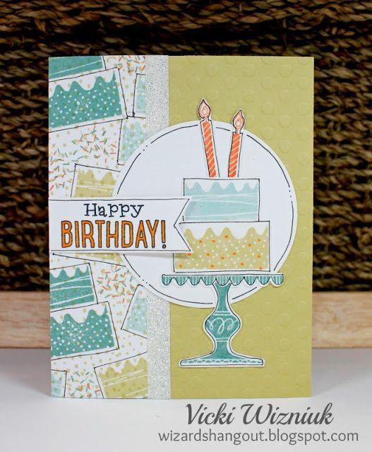 Random Stamped Birthday Card Using Ctmh Wise Guy Birthday Stamp Set