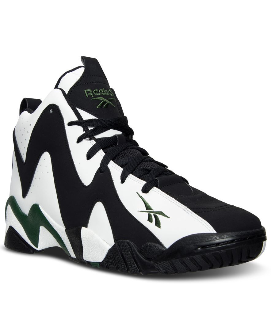 Reebok Men s Kamikaze Ii Mid Basketball Sneakers from Finish Line ... a19012360