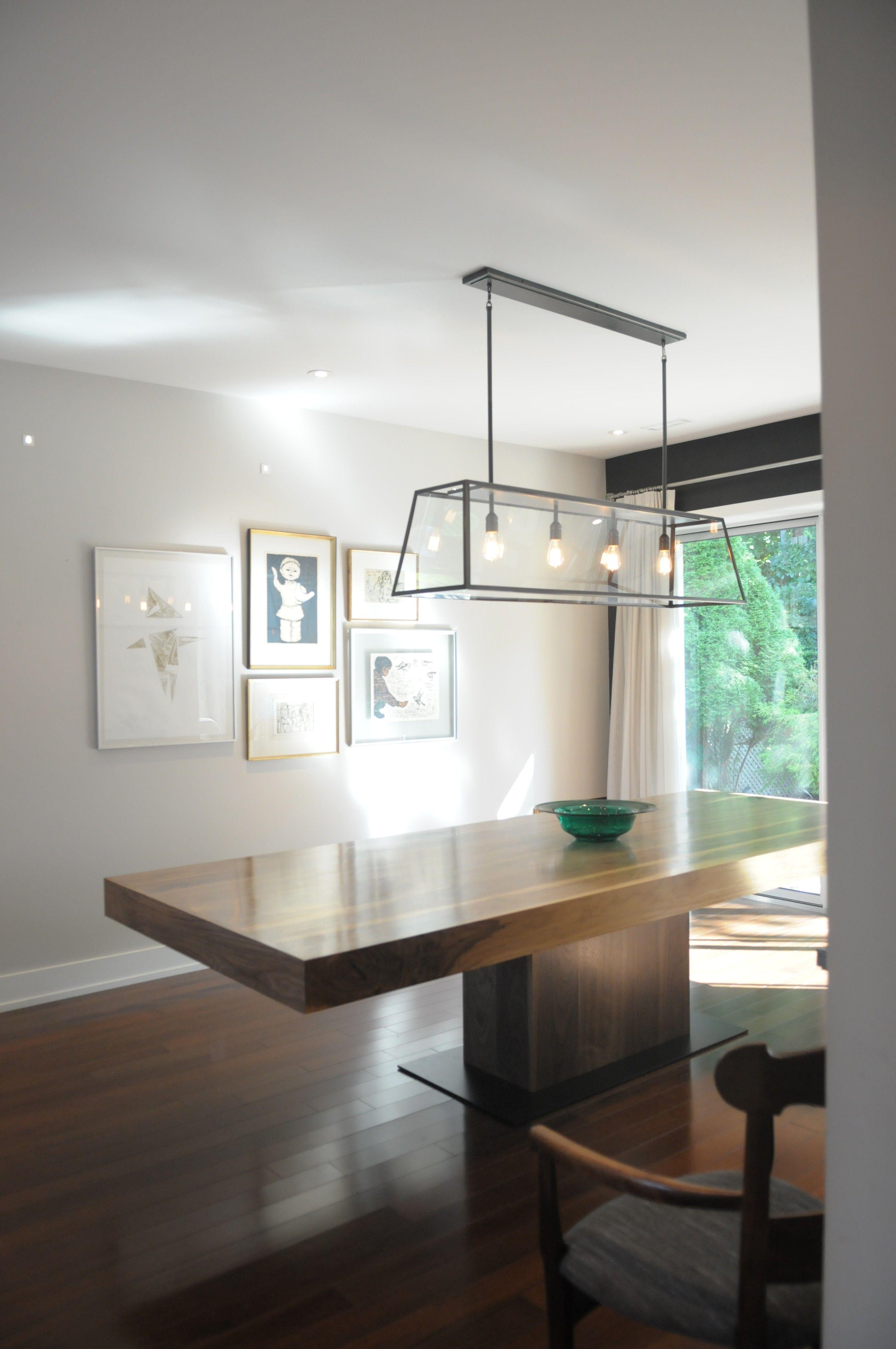 "Pedestal walnut dining table.  Huge...120""x43"""