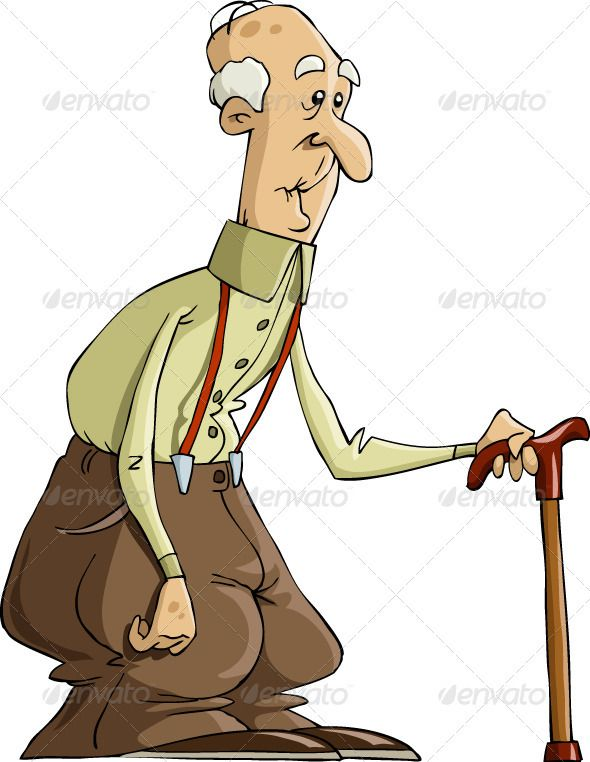 Graphic Design Cartoon Character : Old man